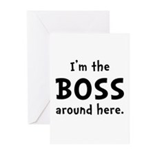 Im The Boss Greeting Cards (Pk of 20)