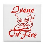 Irene On Fire Tile Coaster