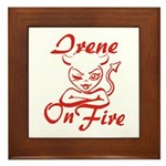 Irene On Fire Framed Tile