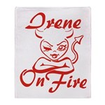 Irene On Fire Throw Blanket