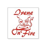 Irene On Fire Square Sticker 3