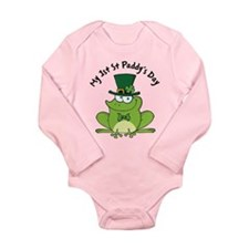 1st St Paddys Day Long Sleeve Infant Bodysuit