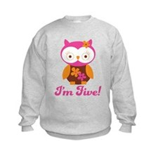 I'm Five Retro Owl Sweatshirt