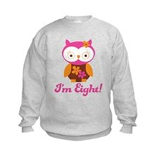 I'm Eight Retro Owl Sweatshirt