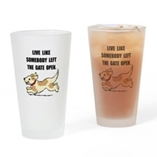 Dog Gate Open Drinking Glass