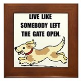 Dog Gate Open Framed Tile