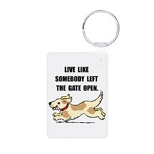 Dog Gate Open Keychains