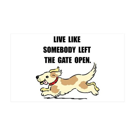 Dog Gate Open 35x21 Wall Decal