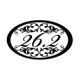Floral 26.2 Oval Car Magnet