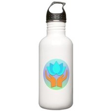 Lotus Flower - Healing Hands Water Bottle