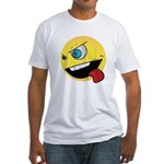 Intense Smiley Face Fitted T-Shirt