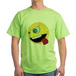 Intense Smiley Face Green T-Shirt
