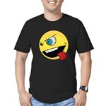 Intense Smiley Face Men's Fitted T-Shirt (dark)