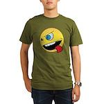 Intense Smiley Face Organic Men's T-Shirt (dark)