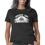 Intense Smiley Face Organic Kids T-Shirt (dark)