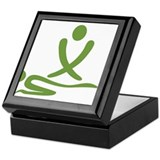 Green massage design Keepsake Box