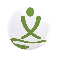 "Green massage design 3.5"" Button"