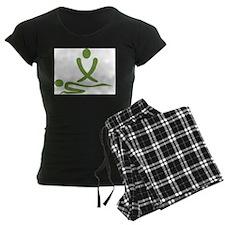 Green massage design Pajamas