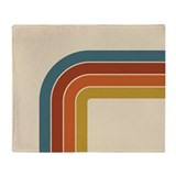 Retro Curve Throw Blanket
