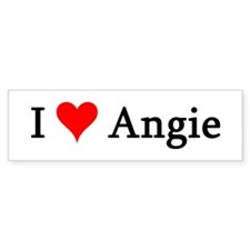 I Love Angie Bumper Bumper Sticker