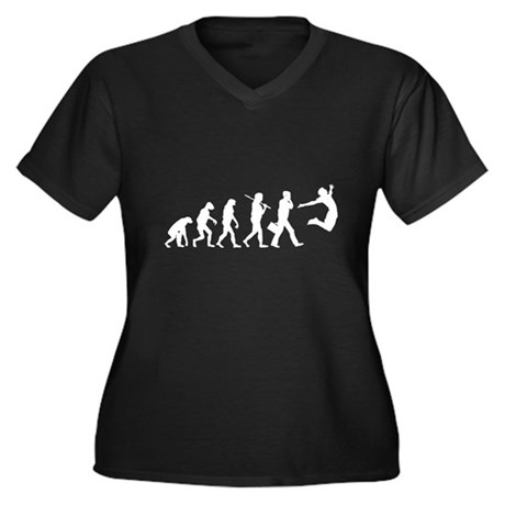 Evolution of Freedom Womens Plus Size V-Neck Dark