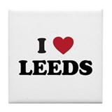 I Love Leeds Tile Coaster