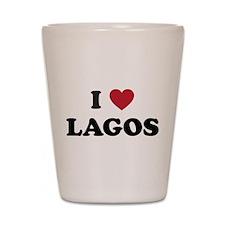I Love Lagos Shot Glass