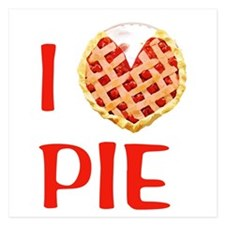I Love Pie 5.25 x 5.25 Flat Cards