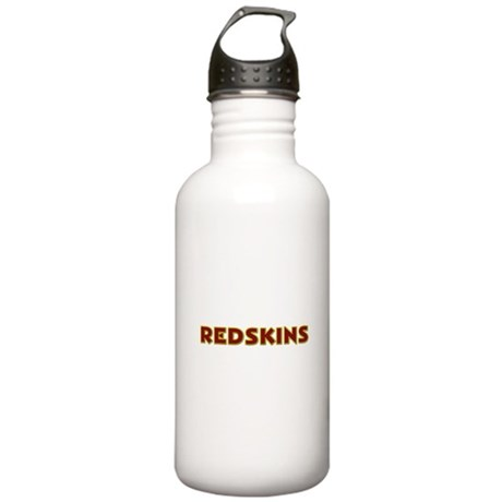 Redskins Text Logo - Large Stainless Water Bottle