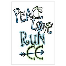 Peace Love Run CC - Cross Country Poster And Wall