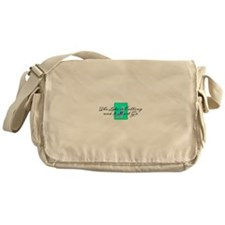 The Lake Is Calling and I Must Go Messenger Bag