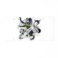 Smith Tartan Lion Aluminum License Plate