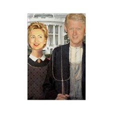 Hilary Clinton Nightmare Rectangle Magnet