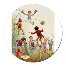 Flowerland Fairies003_SQ.png Round Car Magnet