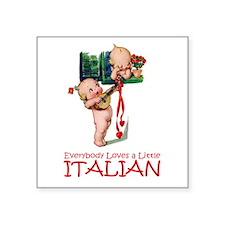 "Kewpies_Little Italian copy.png Square Sticker 3"""