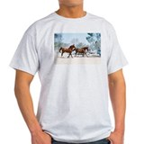 Galloping Horses Ash Grey T-Shirt