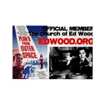 Church of Ed Wood Rectangular Fridge Magnet
