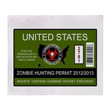 zombie hunting permit Throw Blanket