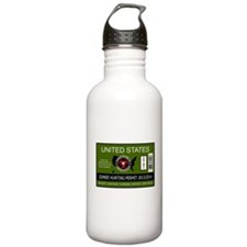 zombie hunting permit Water Bottle