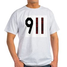 911 Controlled Demolition Ash Grey T-Shirt