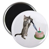 Cat Cutting Cake 2.25&quot; Magnet (10 pack)