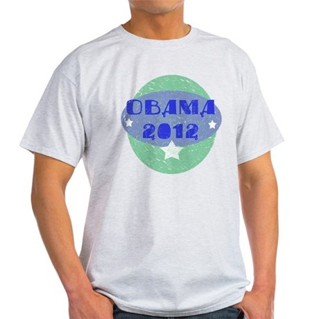 Blue Green Obama 2012 Light T-Shirt
