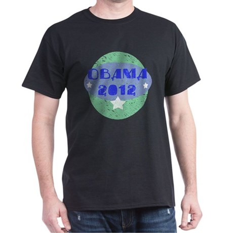 Blue Green Obama 2012 Dark T-Shirt