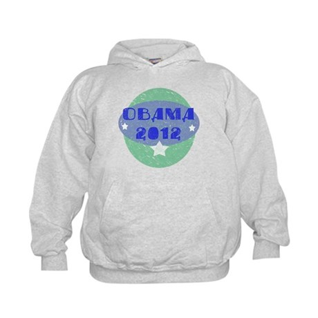 Blue Green Obama 2012 Kids Hoodie