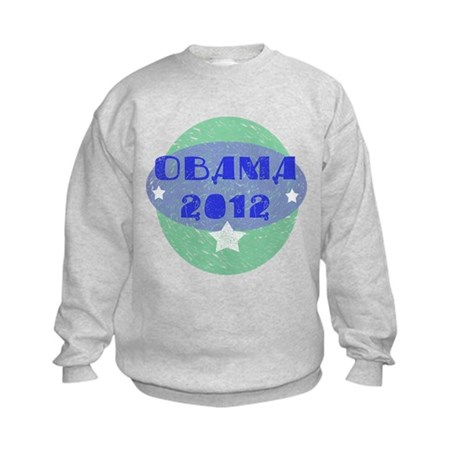 Blue Green Obama 2012 Kids Sweatshirt