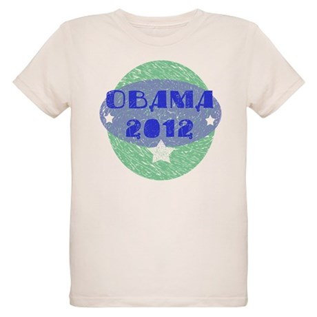 Blue Green Obama 2012 Organic Kids T-Shirt