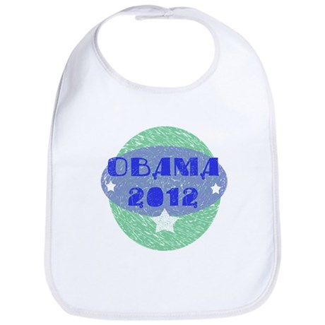 Blue Green Obama 2012 Bib