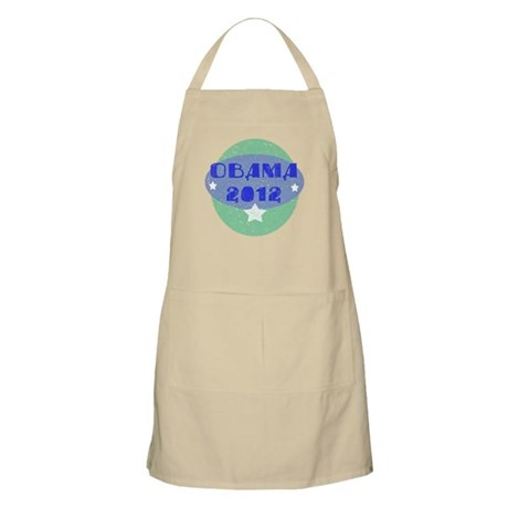 Blue Green Obama 2012 Apron