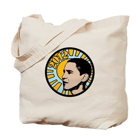 Blue Green Obama 2012 Tote Bag