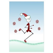 Holiday Runner Guy Poster and Wall Art